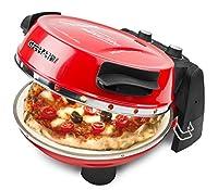 G3 Ferrari G10032, 1 pizza(s), 31 cm, 390 °C, Pietra, Nero, Rosso, 1200 W G3 Ferrari G10032. Numero di pizze: 1 pizza(s), diametro massimo della pizza: 31 cm, Temperatura (max): 390 °C. Materiale superficie di cottura: Pietra, Colore del prod...