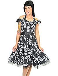 Hearts & Roses 50s MARGUERITE Vintage NECKHOLDER Petticoat KLEID Rockabilly