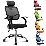 Popamazing Multicolor Swivel Stylish Fabric Mesh Office Furniture Excutive Desk Chair New (Style A, Black)