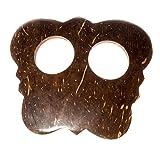 Kascha Kokosnuss Sarongschnalle in Schmetterlingform - Binden Sie Ihren Sarong oder Pareo zu einem Wickelrock, Wickeltuch, Wickelkleid, Hüftrock.