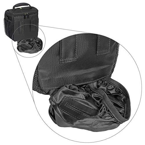 PEDEA Essex SLR-Kameratasche mit Regenschutz und Zubehörfächer (Größe: M) schwarz/blau