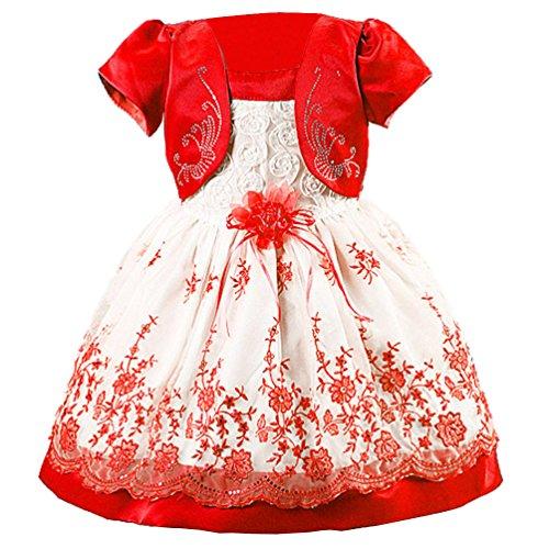 qiufeng-ragazze-fiore-principessa-faux-two-piece-bambini-vestito-abito-sposa-rosso-4-anni