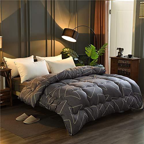 Gedruckte Schleifen Feder Samt Quilt Quilt Quilt Quilt Durch Den Kern Klimaanlage Durch Den Winter 200CM x 230CM Style Gray