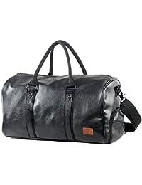 Mioy Vintage Borsone da Viaggio di pelle sintetica Uomo Borsa Palestra Sportiva 40L Per Viaggio Vacanza Palestra Sport