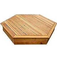 Large Hexagonal Wooden Sandpit