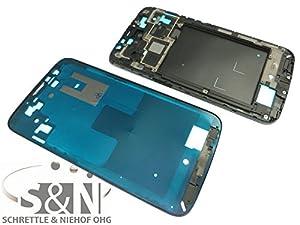 NG-Mobile Samsung Mega 6.3 GT-i9205 Frontcover Display Gehäuse Kleber Rahmen silber chrom