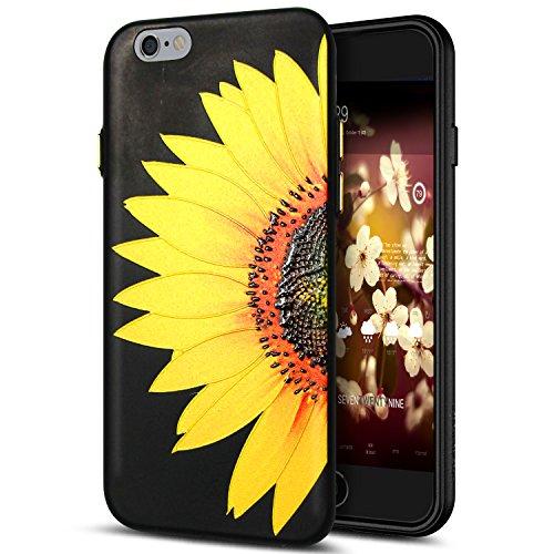 Cover iPhone 6S Plus,Cover iPhone 6 Plus,Custodia iPhone 6S Plus / iPhone 6 Plus Cover,ikasus® Cover custodia per iPhone 6S Plus / 6 Plus disegno colorato TPU con 3d arte pittura floreale fiore fiori  Fiore #1