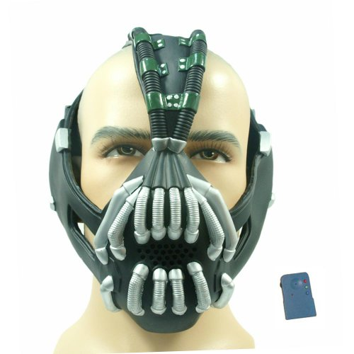 Dark Batman Kostüm Deluxe Knight Adult - Batman Bane Maske mit Voice Changer / Modulator, Adult Size