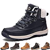 Winter Boots Women Snow Boots Waterproof Leather Warm Adults Faux Fur Ankle Boots