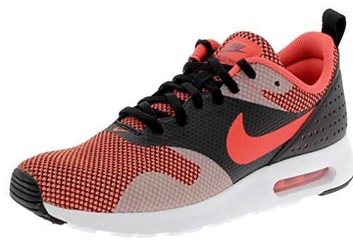 Nike - Chaussures Nike Air Max Tavas Pour Homme Orange Noir-brillant Cramoisi-gris Foncé (898016-001)