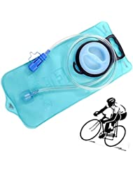 Leeko Bolsa Agua 2L Agua Almacenamiento de la Vejiga de Hidratación Paquete, Boca Ancha Vejiga del Agua para Ciclismo, Senderismo, Campaña, Escalada Deportes