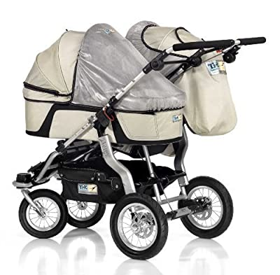 Trends For Kids Single Carrycot Sun Cover for Twinner Twist Duo, Silver by TFK Trends for Kids