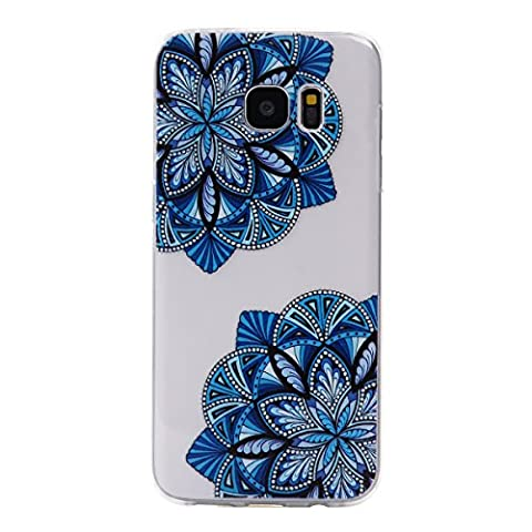 BONROY® Samsung Galaxy S7 Edge Coque Housse Etui,Fashion Belle Ultra-Mince Thin Soft Silicone Etui de Protection pour Souple Gel TPU Bumper Poussiere Resistance Anti-Scratch Case Cover Couverture Pour Samsung Galaxy S7 Edge