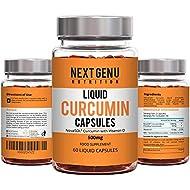 Next Gen U | Turmeric Liquid Curcumin Capsules 500mg with Vitamin D | High Strength 185 x Bioavailability Curcumin by NovaSOL® | Suitable for Vegetarians | Free 10 Day Detox EBOOK Worth £14.99