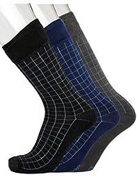 Blacksmith 100% COTTON FORMAL SOCKS FOR MEN IN ASSORTED COLORS (PACK OF 3) 2B