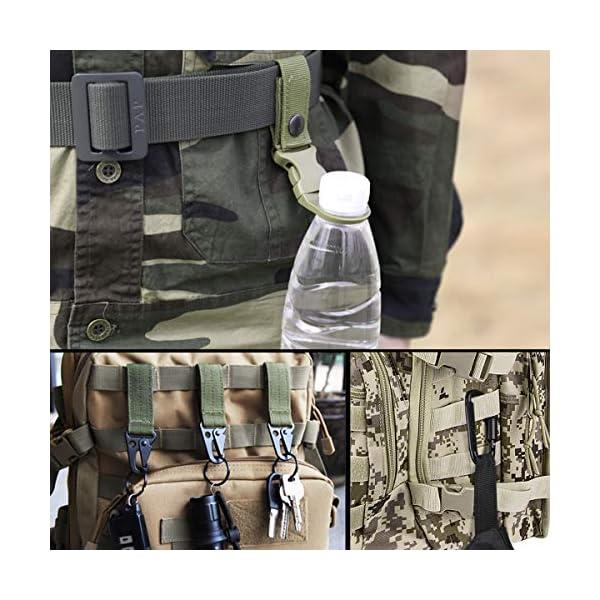 AivaToba Cintura Tattica Uomo Heavy Duty Nylon Cintura Cobra Militare Esercito con Fibbia in Metallo a Sgancio Rapido… 2 spesavip