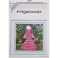 Patrón de costura vestido flamenca Canastero para hacerlo tú misma. Tutorial en vídeo para ayudarte a realizarlo. Talla 36 a la 52. Patrón multitalla en papel.
