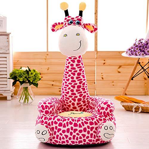 V&K Kid plüschsofa,Niedlichen Cartoon faul Kind-Sofa-Bett Tierische Kleinkinder Sessel für lebendige Gaming-Zimmer -Rosa 20 * 20in