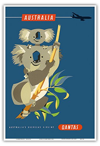australie-koalas-qantas-empire-airways-qea-compagnie-aerienne-vintage-airline-travel-poster-by-harry