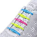 Hickies Neu 2.0 elastische Schnürsenkel, Einheitsgröße, nie wieder Schuhe binden - neon mehrfarbig (14