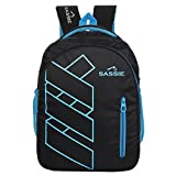 #5: Sassie Black Blue Stylish School Bag & Laptop Bag with 3 Large Compartments (SSN-1083)