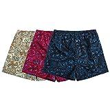 #3: The Cotton Company Men's Cotton Hawaiian Print Boxer Shorts - Pack of 3