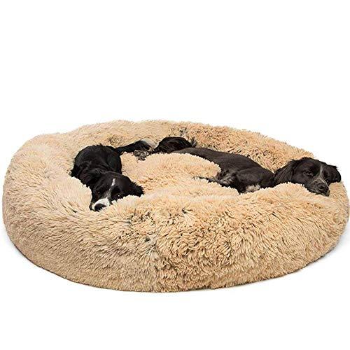 Ailotrd waschbares rundes Hundebett Donut Nisthöhle Kuschelkissen mit abnehmbarem Bezug für kleine mittelgroße und extra große Hunde -