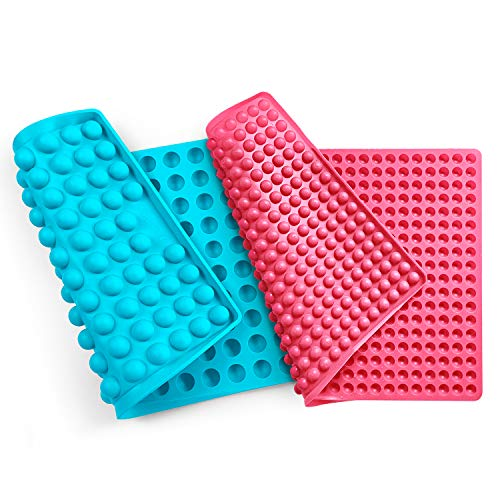 Collory universal silikon Backmatten (2 Stück)   1cm + 2cm Halbkugel Backform für Hundekekse Hundeleckerlies   40 x 28.5cm   Hitzebeständig 240°C   Antihaftend & lebensmittelecht (BPA-frei)