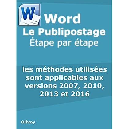 Word Le Publipostage Étape par étape
