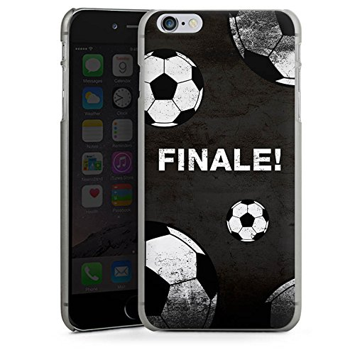 Apple iPhone 6 Plus Silikon Hülle Case Schutzhülle fussball fußball ball Hard Case anthrazit-klar