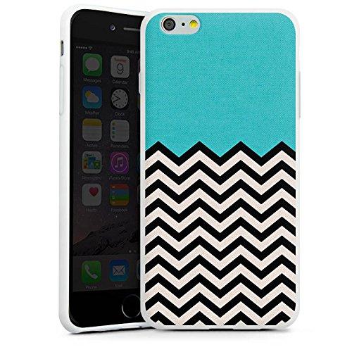 Apple iPhone X Silikon Hülle Case Schutzhülle Muster Zickzack Hipster Silikon Case weiß