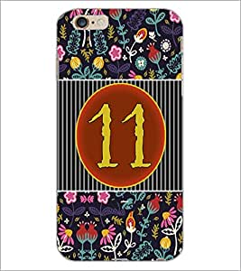 PrintDhaba Numerology Number 11 D-3098 Back Case Cover for APPLE IPHONE 6 PLUS (Multi-Coloured)