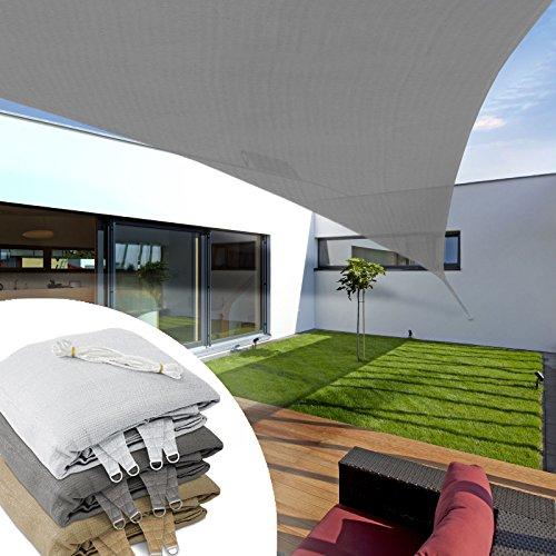 Casa Pura Sonnensegel, dreieckig, 3 x 3 x 3 m, Grau