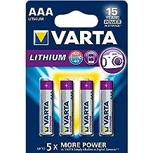 VARTA Lithium - Pilas Litio AAA (pack 4 unidades)