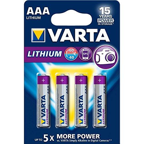 VARTA Lithium    Pilas Litio AAA (pack 4 unidades)