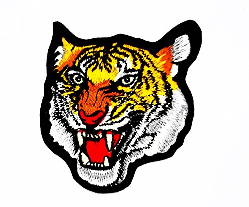 a Jaguar Lion Cheetah Animal Wildlife Kinder Cartoon Patch für Heimwerker-Applikation Eisen auf Patch T Shirt Patch Sew Iron on gesticktes Badge Schild Kostüm (Kinder-cheetah-kostüm)