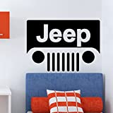 Ambiance-Live Wandtattoo Jeep für Kinderbett - 55 x 90 cm, Silber