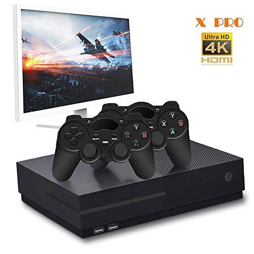 CXYP Retro Spielekonsole, 4K HDMI 32 GB Video Spielkonsole, 800 Classic Spielekonsole mit 2 Joystick, Unterstützung für NEOGEO, GBA, GBC, GB, NES, SNES (Schwarz)