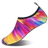 FELOVE Wasserschuhe Strandschuhe Surfschuhe Laufschuhe Tauchschuhe Barfuß Socken Hausschuhe Schwimmschuhe Yoga Schuhe für Damen & Herren, Atmungsaktive Neopren-Gummisohle Aqua-Socken