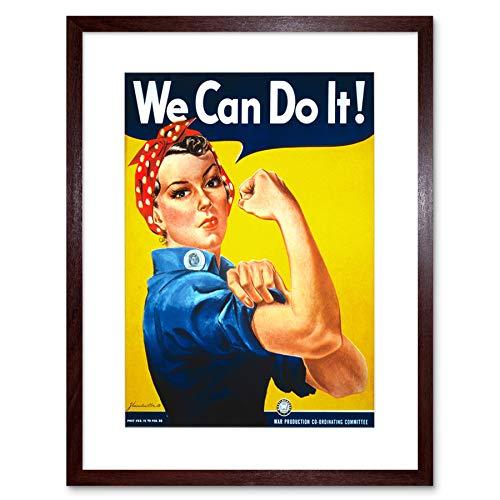 War Second World We Can Do It Women Vintage Lámina