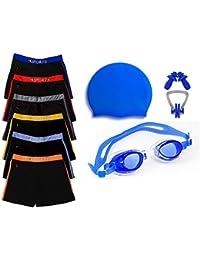 Golden Girl Swimming Kit for Boys Kids & Men(Blue_6-8 Years)