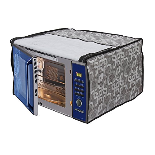 Glassiano Geometric Grey Printed Microwave Oven Cover for Samsung Grill 20 Litre Microwave Oven Model (GW732KD-B/XTL)  available at amazon for Rs.399
