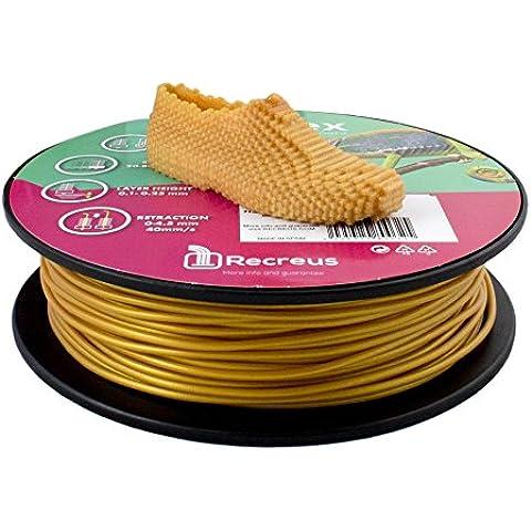 Filaflex FGO300500-2 Filamento Elástico para Impresora 3D, 2,85 mm, 500 gramos, de TPU, Oro
