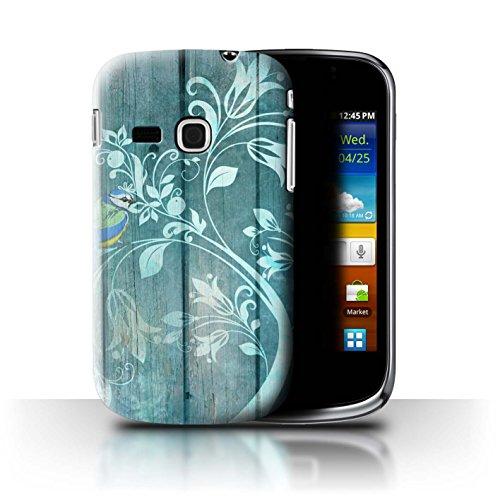 Stuff4 Custodia/Cover/Caso/Cassa Rigide/Prottetiva Stampata con Il Disegno Moda Inverno per Samsung Galaxy Mini 2/S6500 - Jade Tree