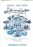 Der Karneval der Tiere -- Camille Saint-Saens -- für Klavier, Violine, Cello, Querflöte, Klarinette in Bb, Glockenspiel und Alt-Xylophon -- BOE4343