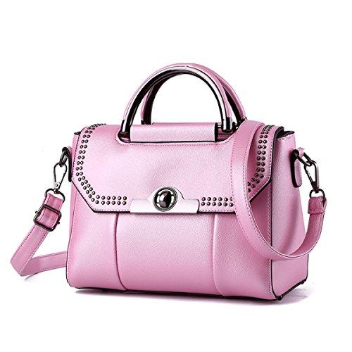 Borsa A Tracolla In Pelle Da Donna Elegante Borsa A Tracolla Moda Borsa Messenger Borsa A Tracolla Delle Donne (nero) Pink