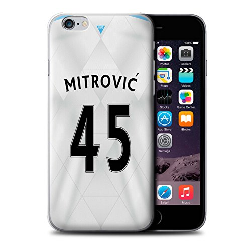 Offiziell Newcastle United FC Hülle / Case für Apple iPhone 6S / Lascelles Muster / NUFC Trikot Away 15/16 Kollektion Mitrovic