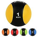 Medizinball 1 kg – Professionelle Studio-Qualität Gymnastikbälle (1 kg - Gelb)