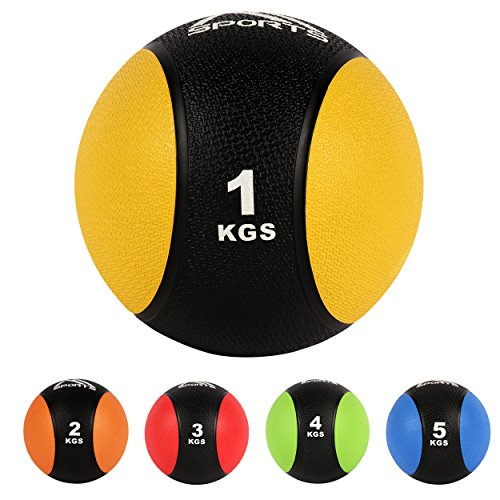 #Medizinball 1 kg – Professionelle Studio-Qualität Gymnastikbälle (1 kg – Gelb)#