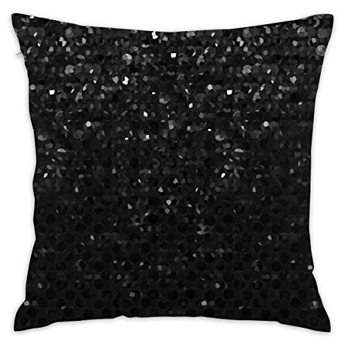 ITSHHMB Black Crystal Bling Strass Print Home Decorative Throw Pillow Case Cushion Cover for Gift Home Couch Bed Car 18